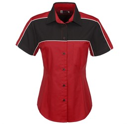 Ladies Daytona Pitt Shirt  Red Only
