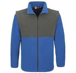 Mens Benneton ZipOff Micro Fleece Jacket  Blue Only
