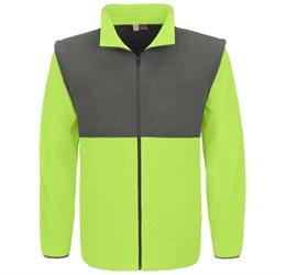 Mens Benneton ZipOff Micro Fleece Jacket  Lime Only