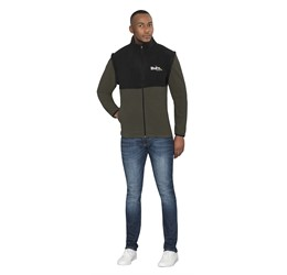 Mens Benneton ZipOff Micro Fleece Jacket
