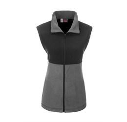 Ladies Benneton ZipOff Micro Fleece Jacket  Grey Only