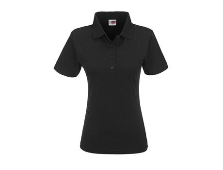 US Basic Ladies Cardinal Golf Shirt in Black Code BAS-5169