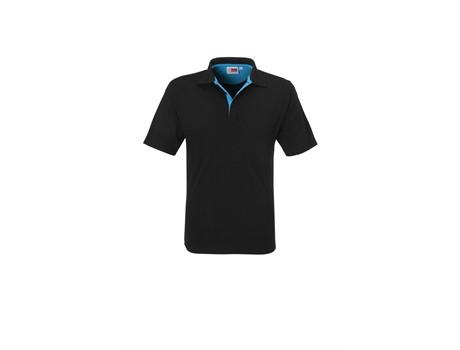 US Basic Mens Solo Golf Shirt in aqua Code BAS-7776