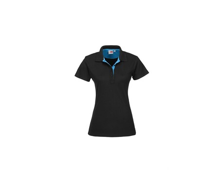 US Basic Ladies Solo Golf Shirt in Aqua Code BAS-7777