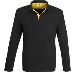 Golfers - Mens Long Sleeve Solo Golf Shirt