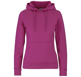 Ladies Omega Hooded Sweater  Pink Only