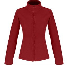 Ladies Yukon Micro Fleece Jacket  Red Only
