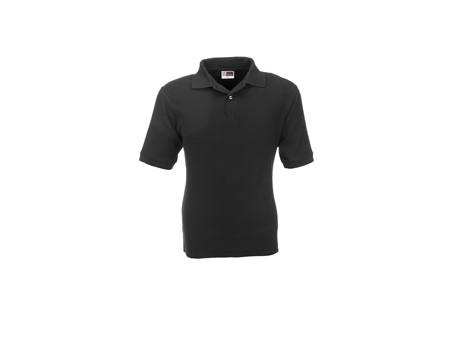 US Basic Mens Boston Golf Shirt in Black Code BAS-803