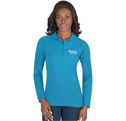 Golfers - US Basic Ladies Long Sleeve Elemental Golf Shirt