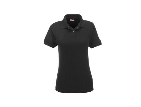 US Basic Ladies Boston Golf Shirt in Black Code BAS-804