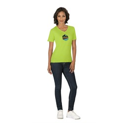 Ladies Super Club 165 VNeck TShirt