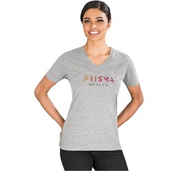Ladies  Michigan Melange VNeck TShirt