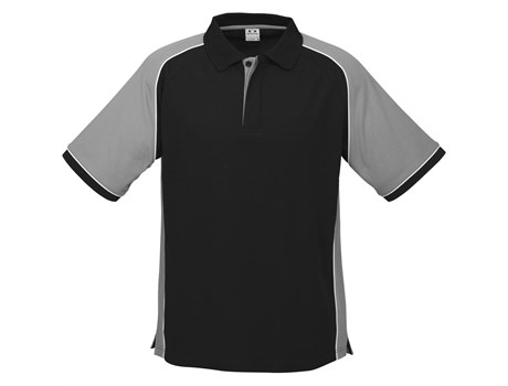 Biz Collection Mens Nitro Golf Shirt in Grey Code BIZ-3600
