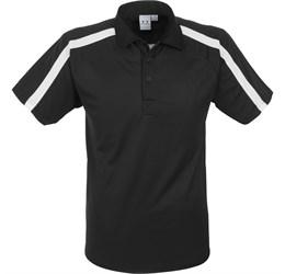 Golfers - Mens Monte Carlo Golf Shirt  Black Only