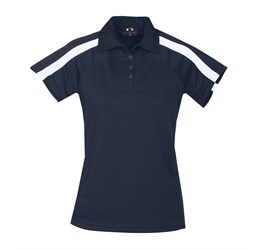 Golfers - Ladies Monte Carlo Golf Shirt  Navy Only
