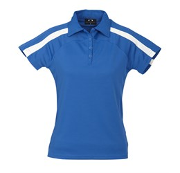 Golfers - Ladies Monte Carlo Golf Shirt  Royal Blue Only