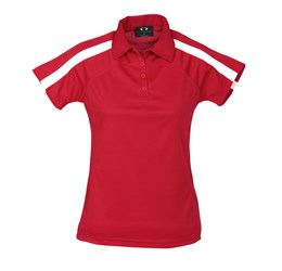 Golfers - Ladies Monte Carlo Golf Shirt  Red Only