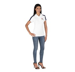 Golfers - Ladies Monte Carlo Golf Shirt White Only