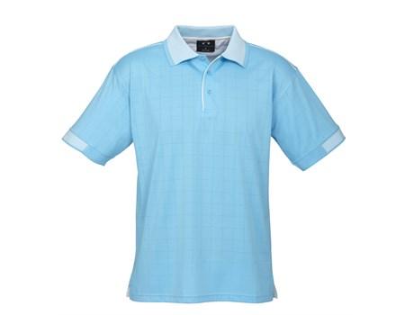 Biz Collection Mens Noosa Golf Shirt in Aqua Code BIZ-3614