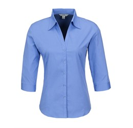 Ladies 3/4 Sleeve Metro Shirt
