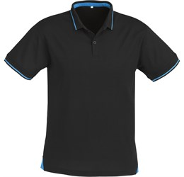 Golfers - Mens Jet Golf Shirt  Black with Charcoal Only