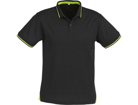 Biz Collection Mens Jet Golf Shirt in Black With Lime Code BIZ-4850