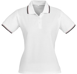 Golfers - Ladies Cambridge Golf Shirt  White Only