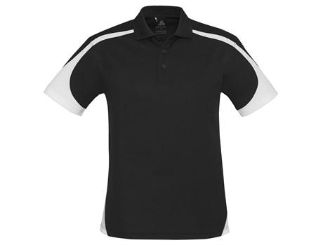 Biz Collection Mens Talon Golf Shirt in Black Code BIZ-5080