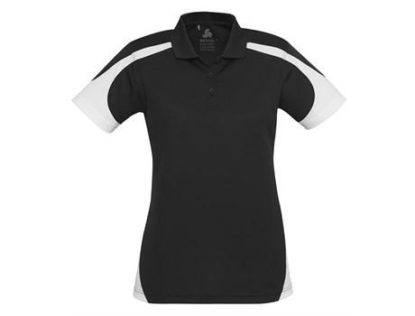 Biz Collection Ladies Talon Golf Shirt in black Code BIZ-5081