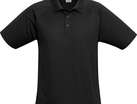 Biz Collection Mens Sprint Golf Shirt in Black Code BIZ-7103