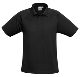 Golfers - Kids Sprint Golf Shirt  Black Only