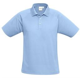 Golfers - Kids Sprint Golf Shirt  Light Blue Only
