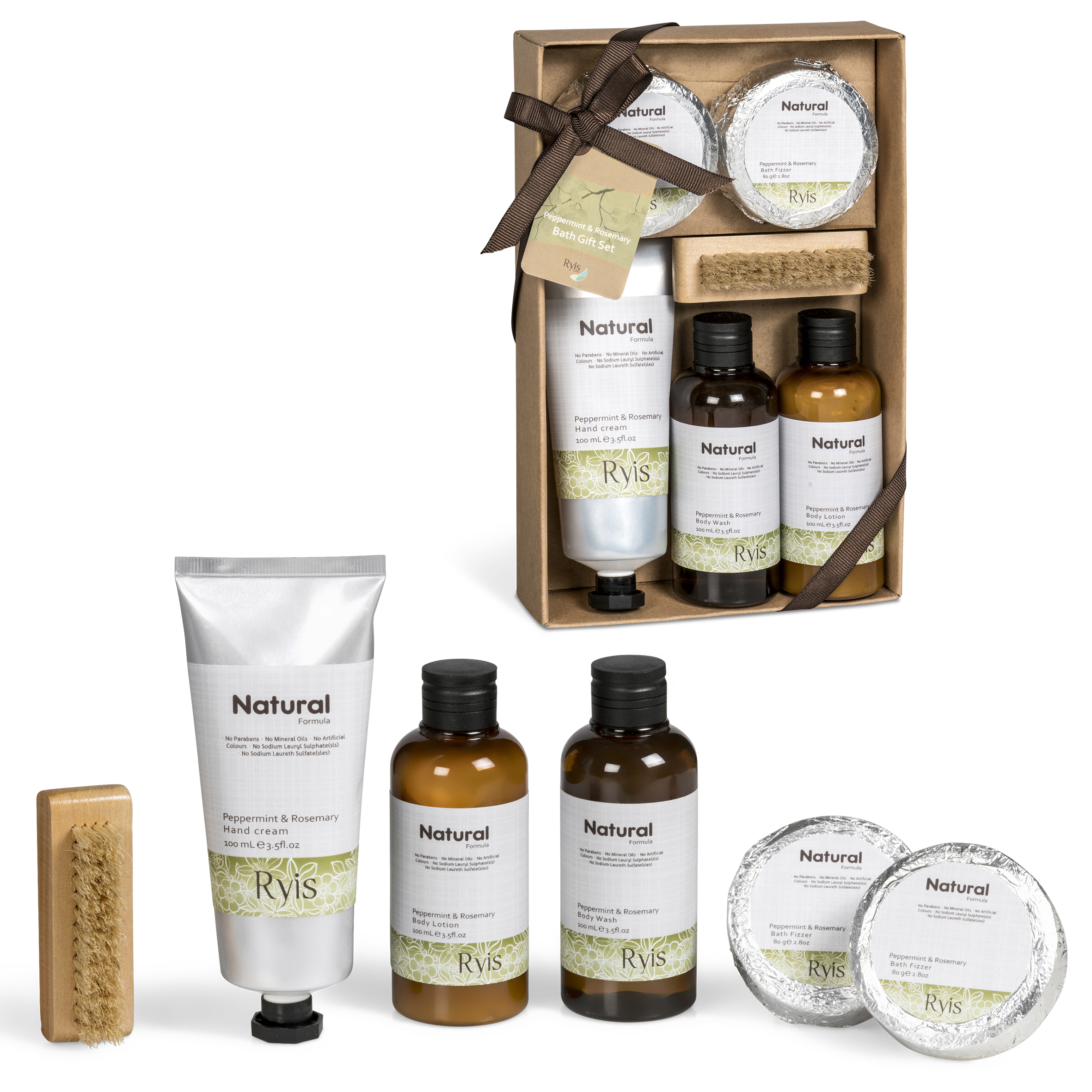 Product: Ryis Peppermint & Rosemary Bath Gift Set