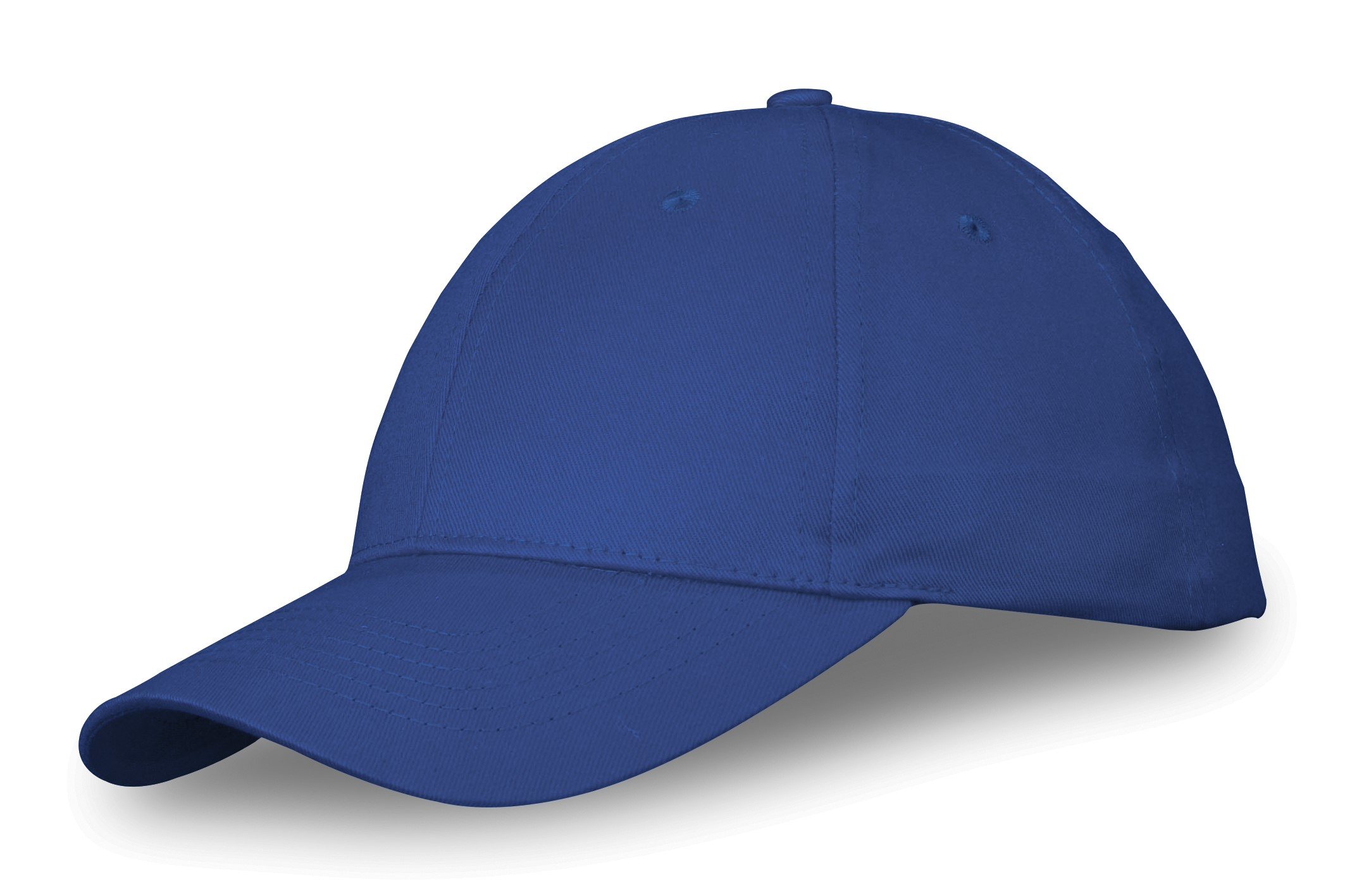 A twill cotton peak cap that can be branded on all six panel sections c5978b1a1eb