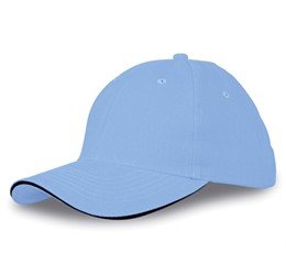 Conquest Heavy Brushed Cotton 6 Panel Cap  Ocean Blue Only