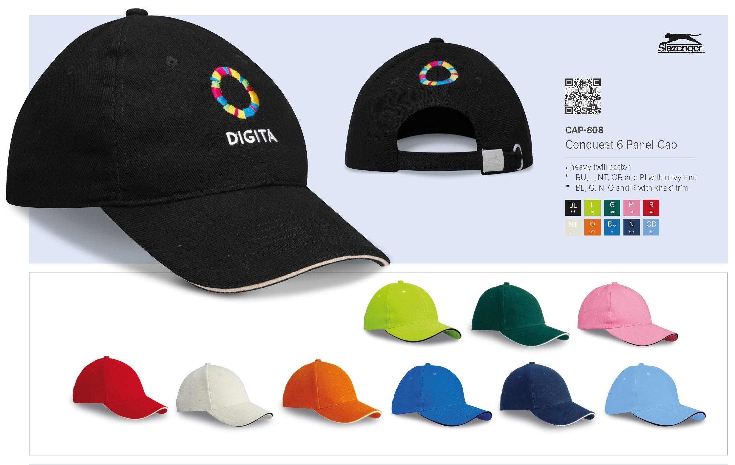 Slazenger Branded Caps