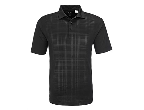 Cutter and Buck Cutter And  Buck Sullivan Mens Golf Shirt in black Code CB-5802