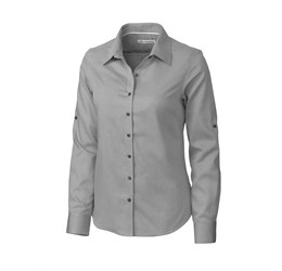 Ladies Long Sleeve Claremont Shirt  Dark Grey Only
