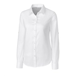 Ladies Long Sleeve Claremont Shirt White Only