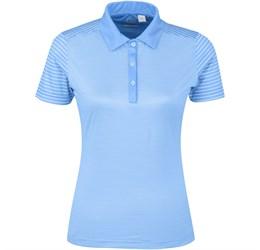 Golfers - Ladies Compound Golf Shirt  Light Blue