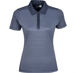 Ladies Compound Golf Shirt  Navy Only
