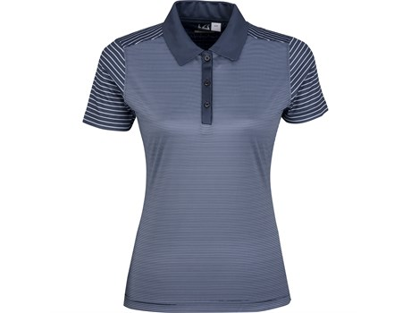 Cutter and Buck Ladies Compound Golf Shirt in Navy Code CB-9903