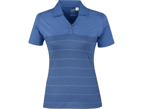 Cutter and Buck Ladies Streak Golf Shirt in Royal Blue Code CB-9905
