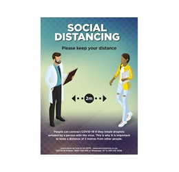 Saturn  A2 Social Distance Poster (Set of 3)