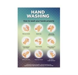 Saturn  A2 Hand Wash Poster (Set of 3)