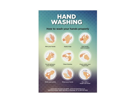 Saturn A2 Hand Wash Poster – Set Of 3