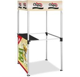 Ovation Gazebo 1m x 1m Kiosk 1 HalfWall Skin