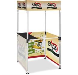 Ovation Gazebo 1m x 1m Kiosk 3 HalfWall Skins