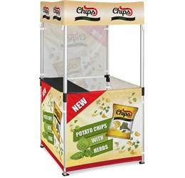 Ovation Gazebo 1m x 1m Kiosk 3 HalfWall Skins 1 FullWall Skin