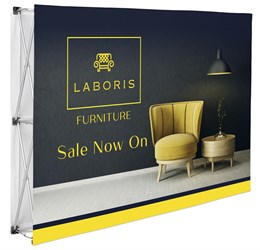 Legend DoubleSided Straight Banner Wall 1.52m x 2.25m